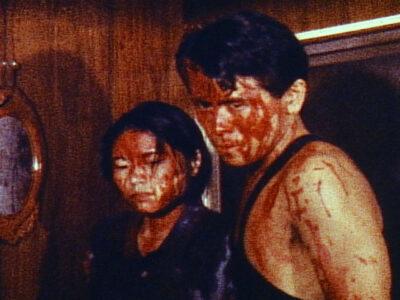 「地獄の血みどろマッスルビルダー」宣伝用スチール~主演2人